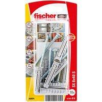 Fischer Nylon & steel Wall plug (L)40mm (Dia)6mm Pack of 10.