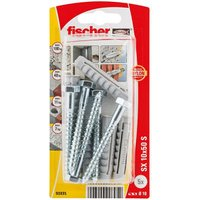 Fischer Nylon & steel Wall plug (L)50mm (Dia)10mm Pack of 5.
