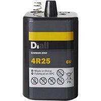 Diall Zinc carbon batteries Non rechargeable 4R25 Battery.