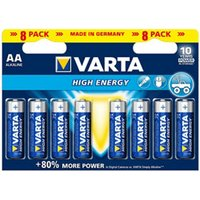 Varta Longlife Power AA Battery Pack of 8.
