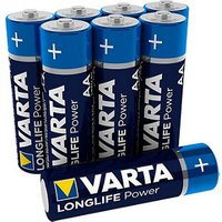 Varta Longlife Power Non-rechargeable AA Battery Pack of 12.