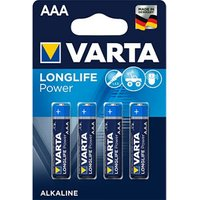 Varta Longlife Power Non rechargeable AAA Battery Pack of 4.