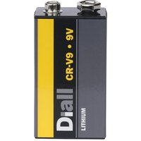 Diall Lithium batteries Non rechargeable 9V E-Block Battery.