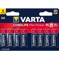 Varta Longlife Max Power Non rechargeable AA Battery Pack of 8.