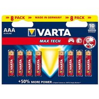 Varta Longlife Max Power Non rechargeable AAA Battery Pack of 8.