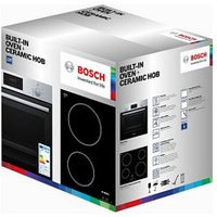 Bosch HBF113BR0B Built-in Single Electric multifunction Fan oven and ceramic hob pack