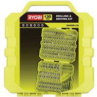 Ryobi 130 piece Straight Mixed Drill bit Set.