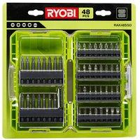 Ryobi Mixed Screwdriver bits Set of 48.
