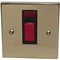 Volex 45A Brass effect Cooker Switch.