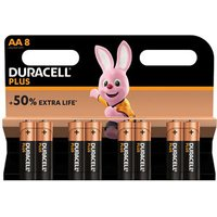 Duracell Plus Non-rechargeable AA Battery Pack of 8.