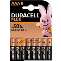 Duracell Plus Non-rechargeable AAA Battery Pack of 8.