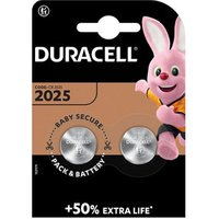 Duracell Non-rechargeable CR2025 Battery Pack of 2.
