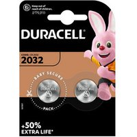Duracell Non-rechargeable CR2032 Battery Pack of 2.