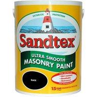 Sandtex Ultra smooth Black Masonry paint  5L
