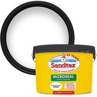 Sandtex Ultra smooth Pure brilliant white Masonry paint  10L