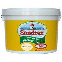 Sandtex Ultra smooth Cornish cream Masonry paint  10L