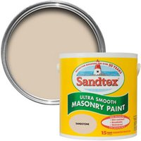 Sandtex Ultra smooth Sandstone beige Masonry paint  2.5L