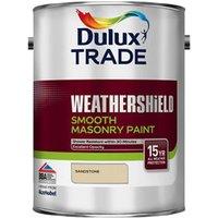 Dulux Trade Weathershield Sandstone Smooth Masonry paint  5L