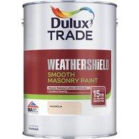 Dulux Trade Weathershield Magnolia Smooth Masonry paint  5L