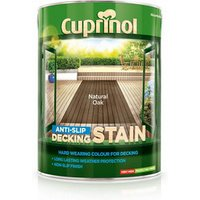 Cuprinol Natural oak Matt Slip resistant Decking Wood stain  5L