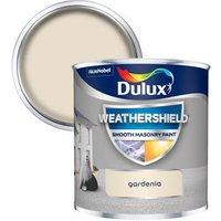 Dulux Weathershield Gardenia Smooth Matt Masonry paint  0.25