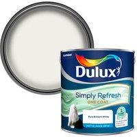 Dulux One coat Pure brilliant white Matt 2.5L.