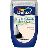 Dulux One coat Magnolia Matt Emulsion paint 30ml Tester pot.