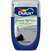 Dulux One coat Warm pewter Matt Emulsion paint 30ml Tester pot.