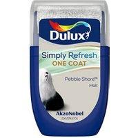 Dulux One coat Pebble shore Matt Emulsion paint 30ml Tester pot.