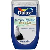Dulux One coat Polished pebble Matt Emulsion paint 30ml Tester pot.