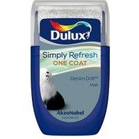Dulux One coat Denim drift Matt Emulsion paint 30ml Tester pot.