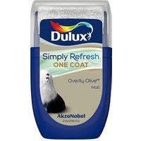 Dulux One coat Overtly olive Matt Emulsion paint 30ml Tester pot.