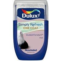 Dulux One coat Dusted fondant Matt Emulsion paint 30ml Tester pot.