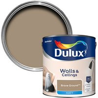 Dulux Walls & Ceilings Brave Ground Matt Emulsion paint 2.5L.