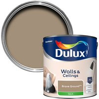 Dulux Walls & Ceilings Brave Ground Silk Emulsion paint 2.5L.