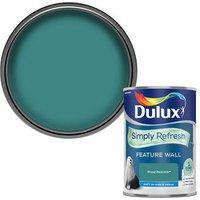 Dulux One coat Proud peacock Matt Emulsion paint 1.25L.