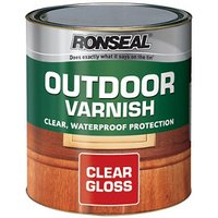 Ronseal Clear Gloss Wood varnish  2.5L