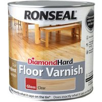 Ronseal Diamond hard Clear Gloss Floor Wood varnish  2.5L