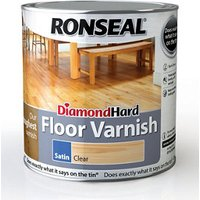 Ronseal Diamond hard Clear Satin Floor Wood varnish  2.5L