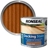 Ronseal Golden cedar Matt Decking Wood stain  2.5L