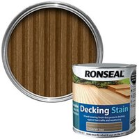 Ronseal Country oak Matt Decking Wood stain  2.5L