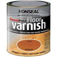 Ronseal Diamond hard Medium oak Satin Floor Wood varnish  2.5L