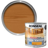 Ronseal Diamond hard Antique pine Satin Floor Wood varnish  2.5L