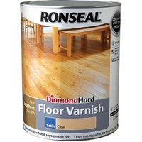 Ronseal Diamond hard Clear Satin Floor Wood varnish  5L