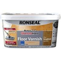 Ronseal Diamond hard Clear Satin Floor Wood varnish  2.5L