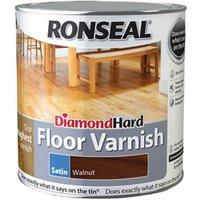Ronseal Diamond hard Walnut Satin Floor Wood varnish  2.5L