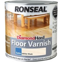 Ronseal Diamond hard White ash Satin Floor Wood varnish  2.5L