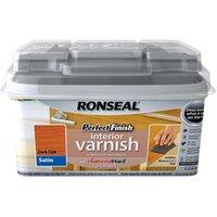 Ronseal Perfect finish Dark oak Satin Wood varnish  0.75L