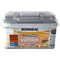 Ronseal Perfect finish Walnut Satin Wood varnish  0.75L