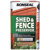 Ronseal Light brown Matt Fence and shed Preserver 5L